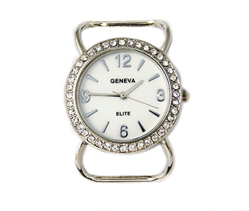 Geneva Elite Ribbon Bar Watch Face for Beading, with Crystals ()