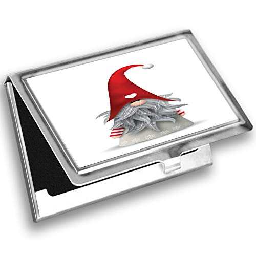 Ambesonne Gnome Card Holder, Finnish Creature Folklore, Metal Card Wallet