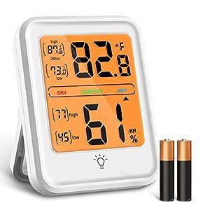 Igrometro Termometro Digitale, Termometro Digitale Ambiente con Display Retroilluminato a LED, Interruttore ° C / ° F e… 41ZS5dLFnNL. SS300