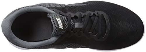 NIKE Men's Revolution 3 Running Shoe, Dark Grey/White/Black, 10.5 4E US