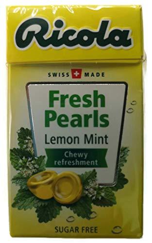 Ricola Herbal Sugar Free Swiss Pearl Breath Mints 1 Case (Pack of 20) (LemonMint)