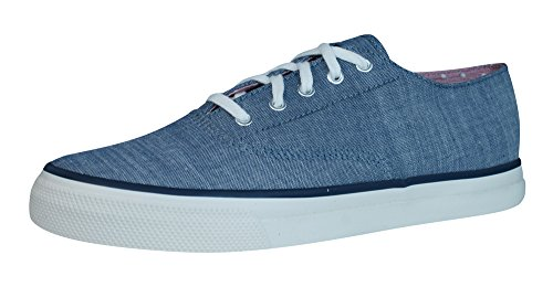 Sperry Cvo Chambray Les Chaussures De Pont La Femme Navy