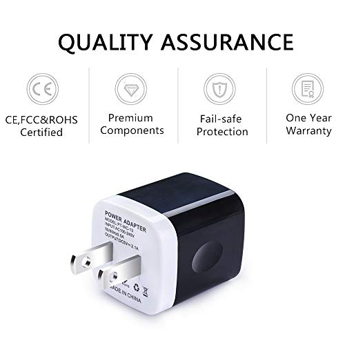USB Wall Charger, Charger Adapter, Ailkin 6-Pack 2.1Amp Dual Port Quick Charger Plug Cube Replacement iPhone X/8/7/6S/6S Plus/6 Plus/6, Samsung Galaxy S7/S6/S5 Edge, LG, HTC, Huawei, Moto etc. by AILKIN (Image #2)