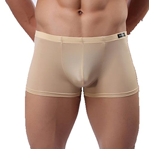 New CHICTRY Men's Smooth Soft Classic Boxer Briefs U Convex Shorts Underwear hot sale