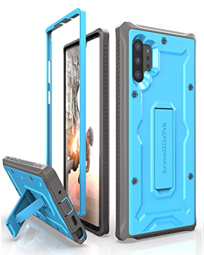 ArmadilloTek Vanguard Designed for Samsung Galaxy Note 10+Plus Case (2019 Release) Military Grade Full-Body Rugged with Kickstand Without Built-in Screen Protector - Blue