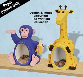 Fat Chimp & Giraffe Coin Bank Plans