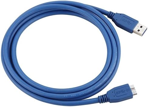 6 Feet, Blue USB 3.0 Super Speed 5Gbps A to Micro Device Cable for Lenovo computer