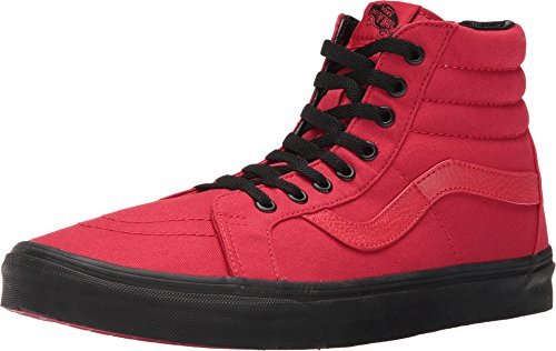 Vans Mens Black Outsole SK8 HI Reissue Racing Red/Black Sneakers Shoes (5) ()