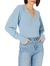 Women's Edith Pleated Shoulder V-neck Sweater