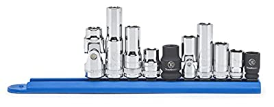 """GearWrench 80319 10 Pc. 1/4"""" & 3/8"""" Drive 6 Point 10mm Socket Set"""