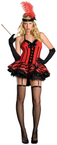 (Secret Wishes  Cabaret Dress Costume, Red,)