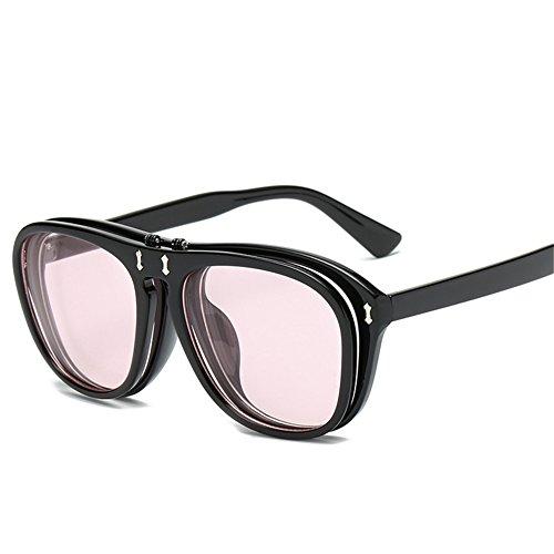 punk gafas y mujeres europeos hombres 142 americanos creativas 142 Gafas flip sol de y 54 F para sol mm NIFG double de wqg0WZI