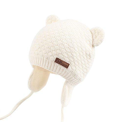 XIAOHAWANG Warm Baby Hat Cute Bear Toddler Earflap Beanie for Fall Winter (0-7Months, ()