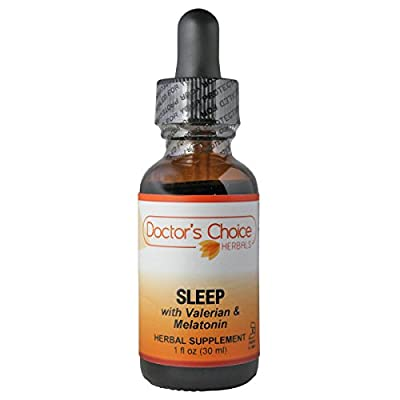 Doctor's Choice Organic Sleep Liquid Herbal Supplement with Valerian Root, Hops Strobiles, Skullcap, Passion Flower, Chamomile, and California Poppy, 30ml, Kosher – PREMIUM QUALITY – Glass Bottle.