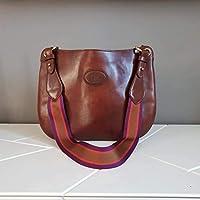 Leather saddle bag purse for women Italian leather handmade