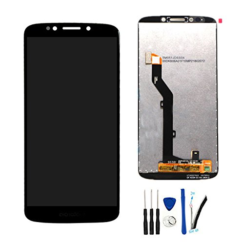 (SOMEFUN LCD Display Screen Digitizer Touch Panel Assembly Replacement for Moto G6 Play XT1922 / Moto G Play Gen 6 5.7Inch Black)
