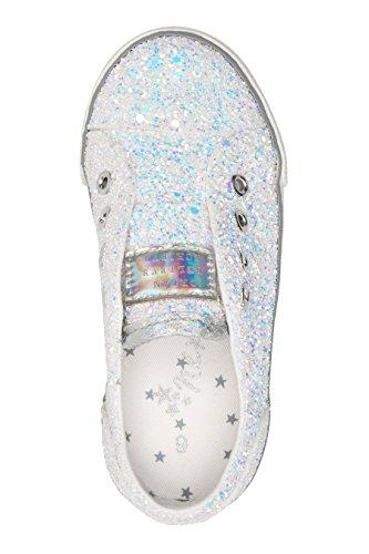 next Niñas Zapatillas de Deporte Sin Cordones (Niña Pequeña) Blanco Glitter