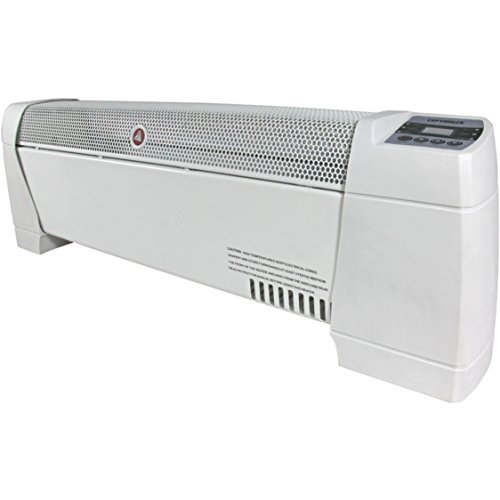 Electric 30'' Baseboard Convection Digital Display White Heater with Automatic Thermostat Control by Optimus
