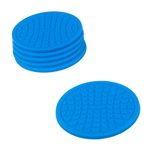 Coasters by Simple Coasters - The Best Drink Coasters and Bar Drink Coasters - These Coasters for Drinks Won't Stick to Your Glass - For Indoors or Outdoors - Great for Hot or Cold Beverages (Blue) (Outdoor Coasters compare prices)