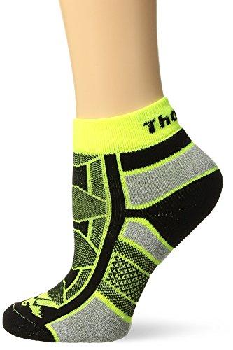 - Thorlos Unisex OAQU Outdoor Athlete Thin Padded Ankle Sock, YELLOW JACKET, XLarge