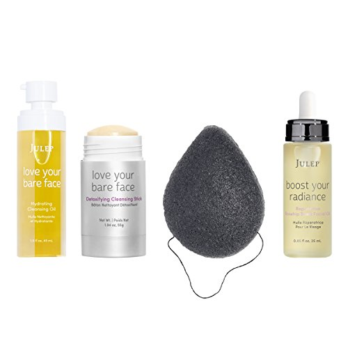 Julep Korean Skincare 4 Piece Set, Double Cleanse, Exfoliate and Hydrate