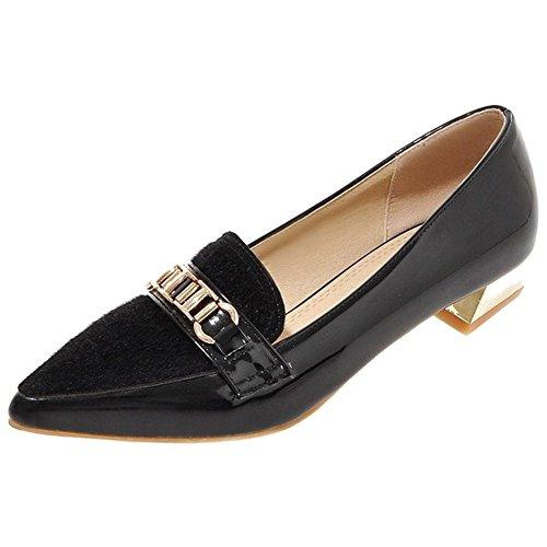 TAOFFEN Women's Casual Slip On Shoes Black 24dMO1