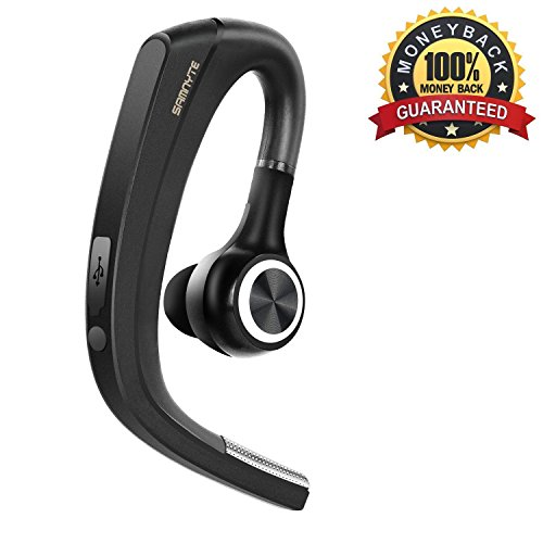 [New] Bluetooth Headset, 4.1 Wireless Bluetooth Earpiece Handy Car Earphone with Mute Switch Hands Free Headphones with Microphone In Ear Earbuds for Office/ Sport/ Drive for iPhone Android by Samnyte