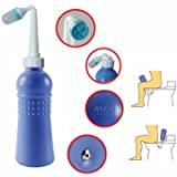 Showerhead & Accessiories - 400ml Portable Manual Operation Bidet Women Kids Cleaning Device - Blue-Collar Procedure Hand-Operated Arms Surgery Non-Automatic Functioning Performance - 1PCs
