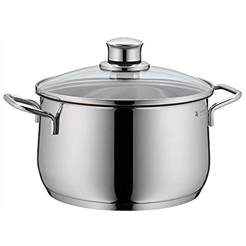 WMF Diadem Plus High Casserole with Lid, 18/10 Stainless Steel, 20 cm - 41ZSAG298ZL - WMF Diadem Plus High Casserole with Lid, 18/10 Stainless Steel, 20 cm