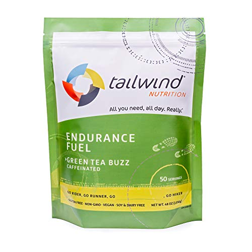 Tailwind Nutrition Caffeinated Endurance Fuel Green Tea Buzz 50 Serving