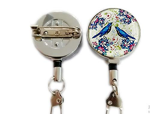 Love Bird Brooch Charm Brooch Brooch BFF Birthday Gift for Girlfriend Gift for Wife Gift for mom Gift for Nurse Gift for her,Retractable Badge Holder Carabiner Reel Clip On ID Card Holders