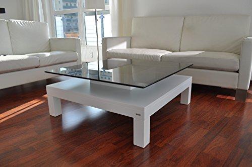 Design esstisch weiß glas carl svensson  Amazon.de: Design Couchtisch Tisch V-570H Weiß getöntes Glas Carl ...