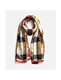 Scarf Shawl Female Thin Section Literary Retro Printing Wild Big Shawl Female Long Section Warm Dual-use Autumn and Winter Scarf (Color: Retro red) Believe in yourself (Color : Red)