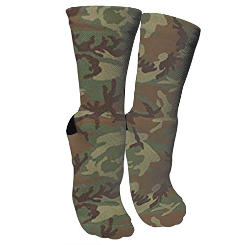 Woodland Spandex Shorts - New Woodland Universal Camo Fashion Stylish Knee High Socks for Women and Men-Fitness Novelty Crew Athletic Socks Comfortable Knee High Sock