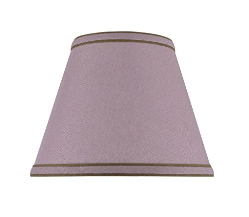 "Aspen Creative 32041 Transitional Hardback Empire Shape Spider Construction Lamp Shade in Reddish Purple, 9"" wide (5"" x 9"" x 7"")"