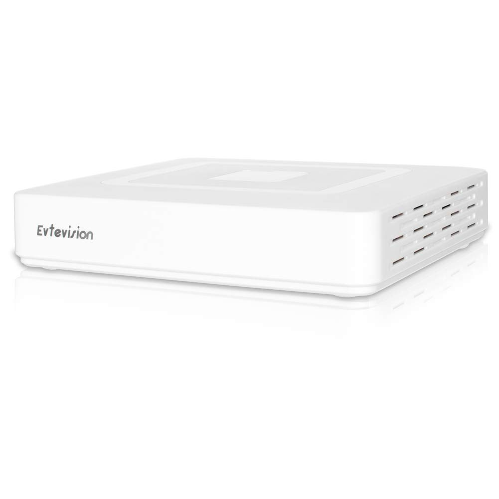 Evtevision 16CH 5MP/1080P Network Video Recorder 16 Channel CCTV NVR Onvif P2P Quick QR Code Scan w/Easy Remote View HDMI/VGA Output, Supports up to 8TB HDD (Not Included) White Color by Evtevision