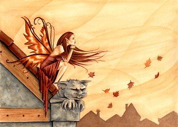 Autumn Winds Open Edition 8.5x11 Fairy Print