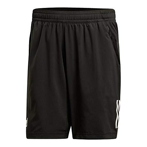 adidas Mens Tennis Club 3 Stripes Short, Black, X-Large