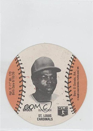 Lou Brock (Baseball Card) 1978 MSA Discs - [Base] - Wiffle Ball Sports Spectacular Back #LOBR - Lou Brock Ball