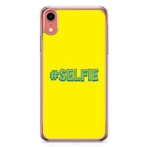 Loud Universe Case For iPhone XR Transparent Edge Hashtag Selfi iPhone XR Cover