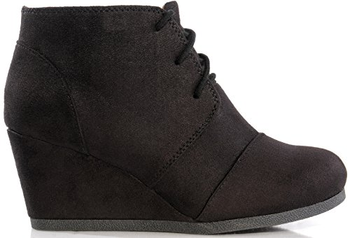 Black Women Wedge - Marco Republic Galaxy Womens Wedge Boots - (Black) - 9