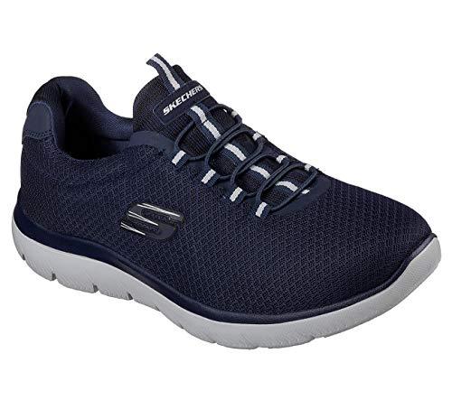 Skechers Hombre Highland para t Zapatillas Blau Blau PwRrTPqc
