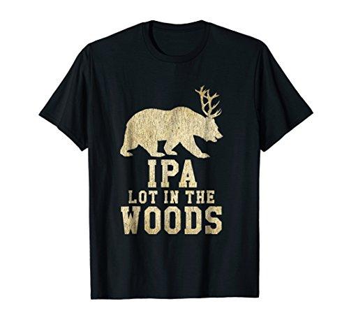 IPA Lot In The Woods Bear Deer Beer Antlers T-Shirt
