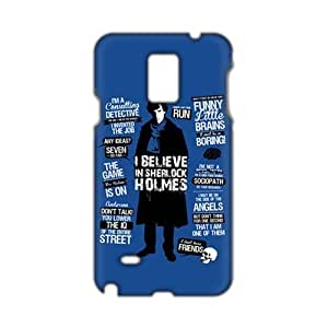 Evil-Store Sherlock holms 3D Phone Case for Samsung Galaxy Note4