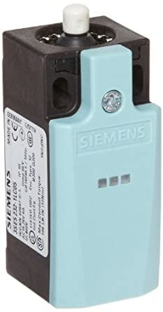 Siemens 3SE5 232-1LC05 Mechanical Position Switch, Complete Unit, Plastic Enclosure, 31mm Width, Rounded Plunger, 1 Yellow LED, 1 Green LED, Snap Action Contacts, 1 NO + 2 NC Contacts, 24VDC LED Voltage