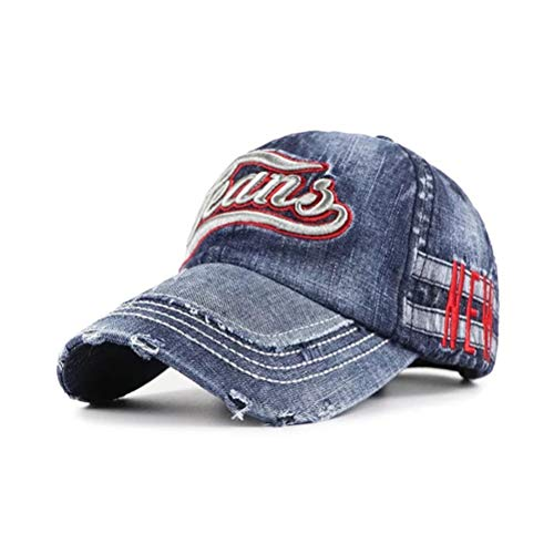 Distressed Cap Vintage Patches Embroidered Denim Baseball Caps for Unisex Trucker Hat