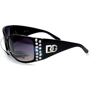 DG Eyewear Designer Rhinestones Women Sunglasses 2718 Black