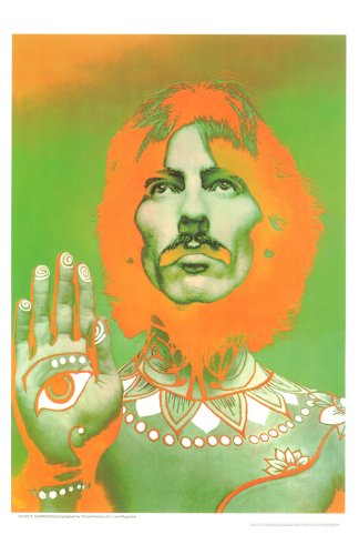 George Harrison Poster - George Harrison, Beatles, 11x17 Inch Digital Poster Reproduction By Richard Avedon