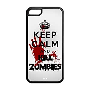Keep Calm And Kill Zombies Case For Sam Sung Galaxy S5 Cover s Best Custom Case at NewOne