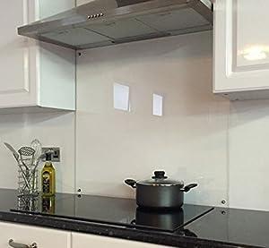 Clear Heat Resistant Glass Splashback